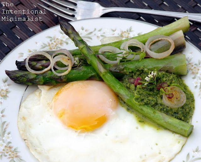 Spring Chimichurri Asparagus & Eggs