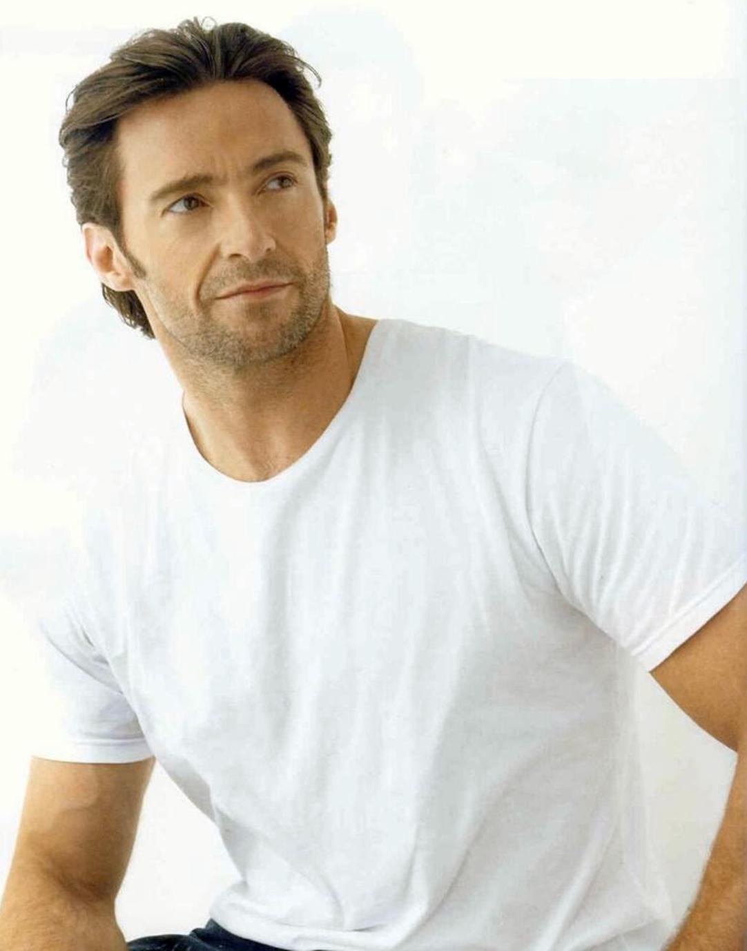 Hugh Jackman Hugh Jackman Wolverine Hugh Jackman White T
