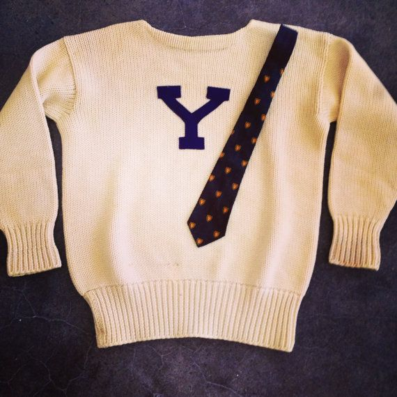 97b37ca491913 1930s Yale cheerleading sweater