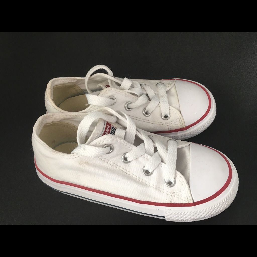 White Converse sneakers girls size 9