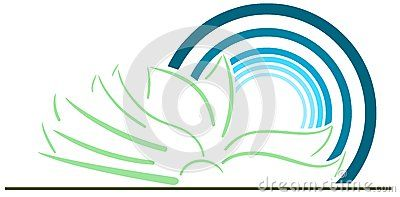 Illustration representing a sketch of a colorful book