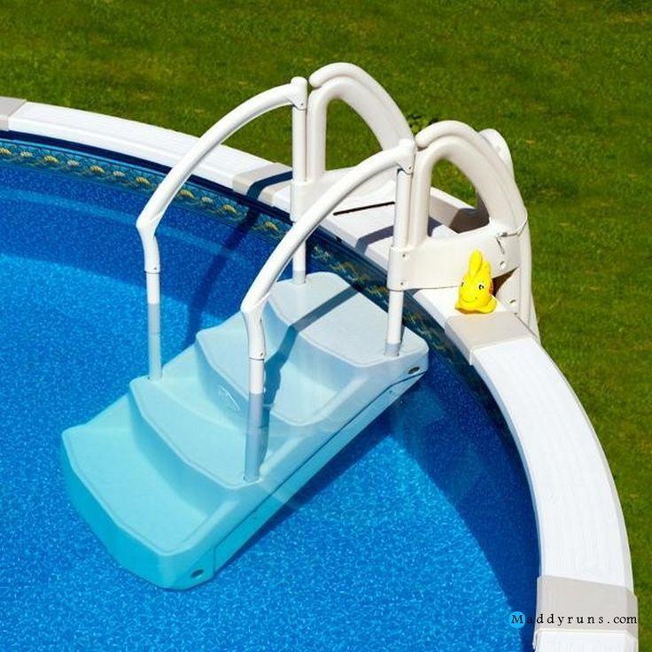Swimming pool swimming pool ladders for above ground pools for Above ground pool ladder ideas