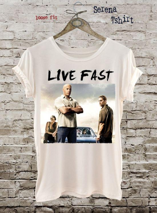 Paul Walker T Shirt Vin Sel Tshirt Pop Art Movie White Black Design Printed Cotton Eco Print