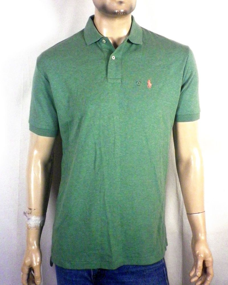 e98d7ccc9ee4 NWT new with defect Polo Ralph Lauren Green Polo Shirt Pink Pony sz S  #PoloRalphLauren #PoloRugby
