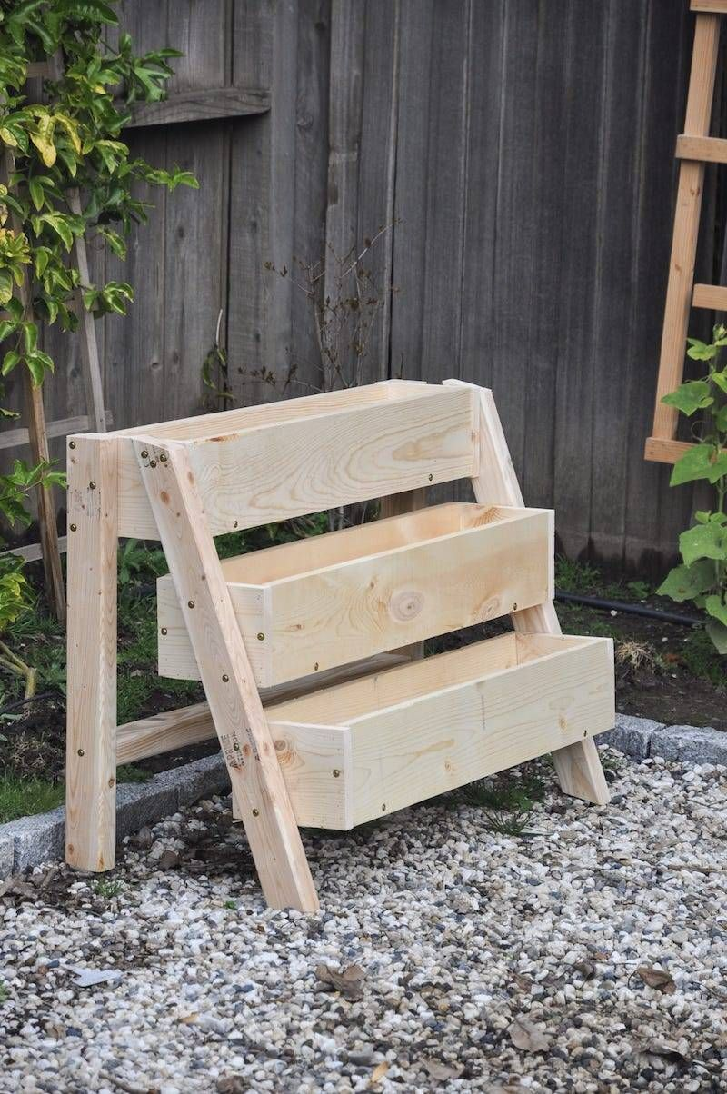 Diy tiered strawberry planter vertical planter box for