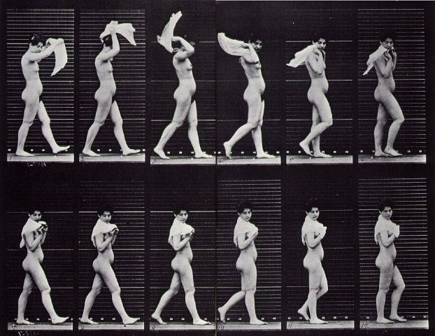Eadweard Muybridge's walking motion study.