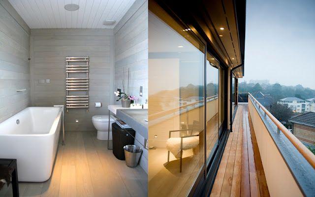 the graylimed horizontal paneling in the bathforum