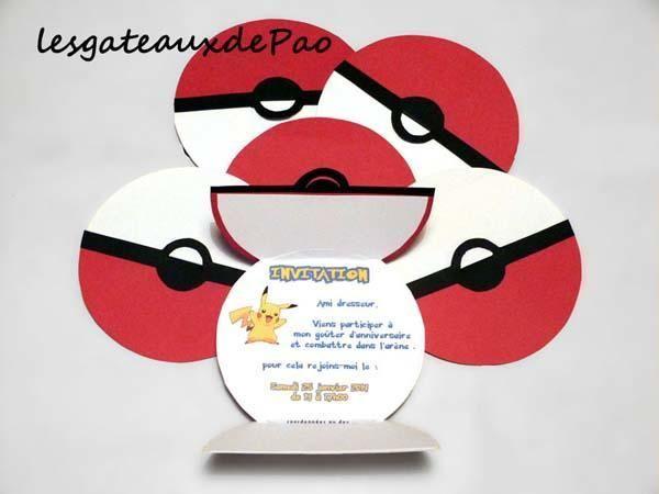 Invitacion Cumpleaños Ficha Pokemon Cumpleaños De Pokemon