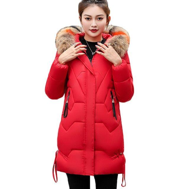 5305feff3dc2a 2018 NEW Winter Jacket Women Thick Long Women Parkas Hooded Female Outwear  Coat Down Cotton Padded