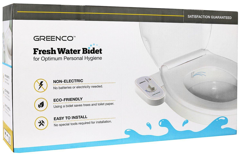Greenco Bidet Fresh Water Spray Nonelectric Mechanical Bidet Toilet Seat Attachment Want To Know More Cl Bidet Toilet Seat Eco Friendly Toilet Fresh Water