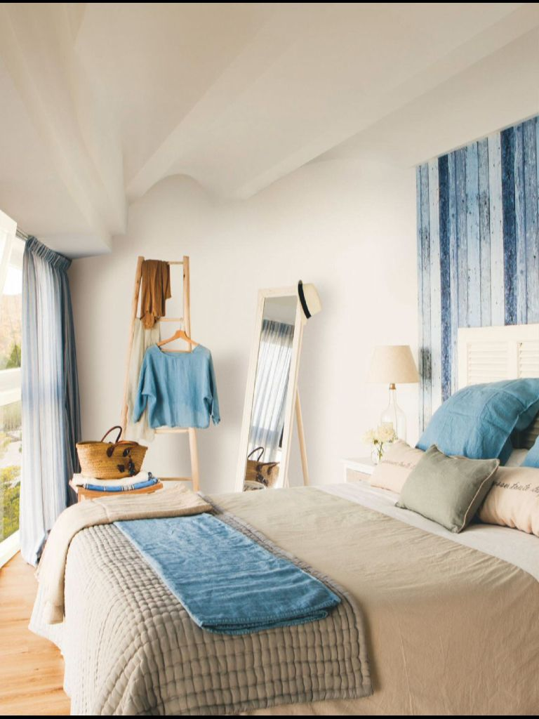 Blue Room Love The Headboard Bedrooms Pinterest Dormitorio  # Foimpex Muebles