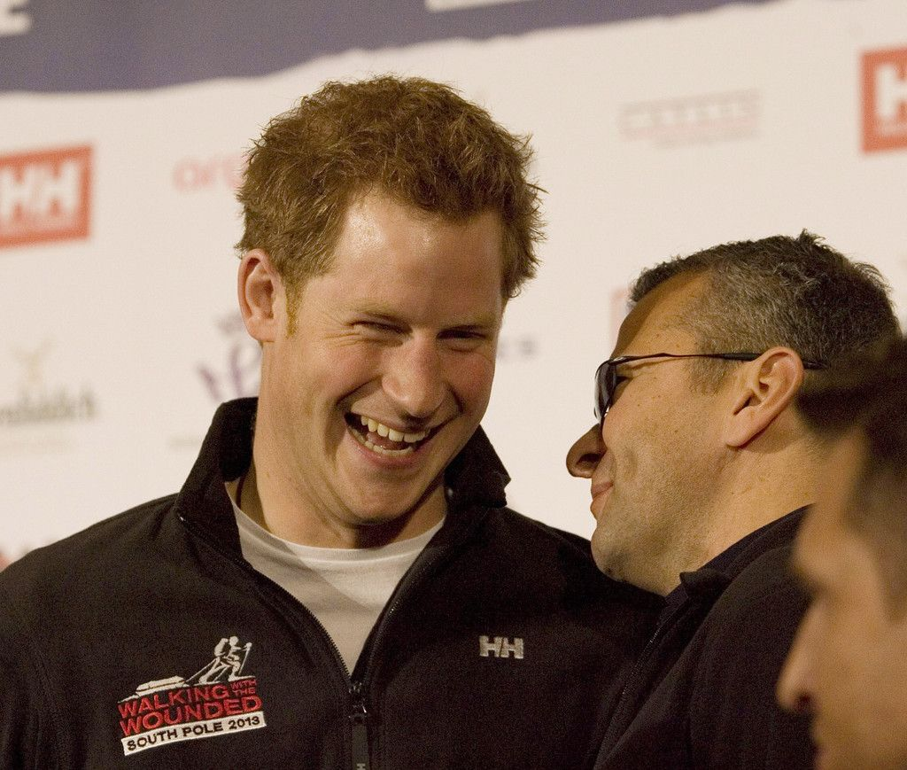 Prince Harry arrives at the Mandarin Oriental Hyde Park to attend the 'Walking With The Wounded South Pole Challenge. The Prince will participate in the challenge which pits two teams of injured service personnel from the Commonwealth and the US in a race across the Antarctic 19 Apr 2013