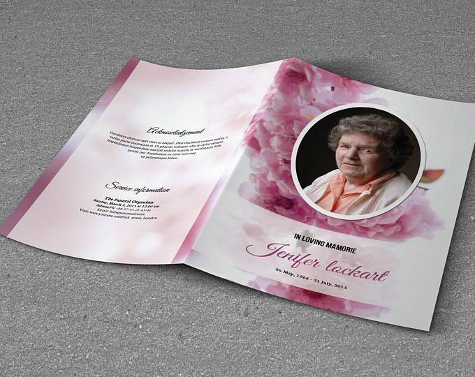 Printable Funeral Program Template, Memorial Program, Obituary - 35 printable obituary