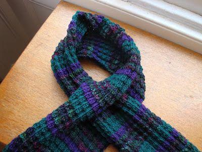 Unfurled: Dragon Scale Keyhole Scarf: Free Pattern!   Knitting ...