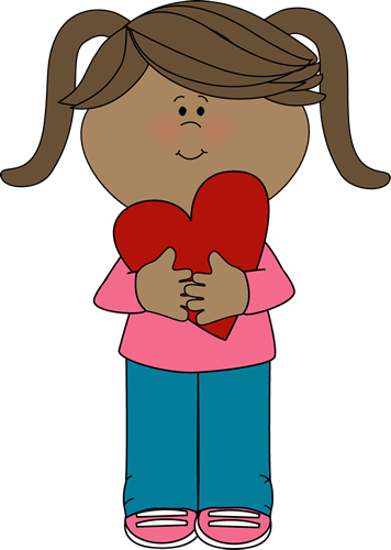 girl with valentine heart clip art girl with valentine heart image