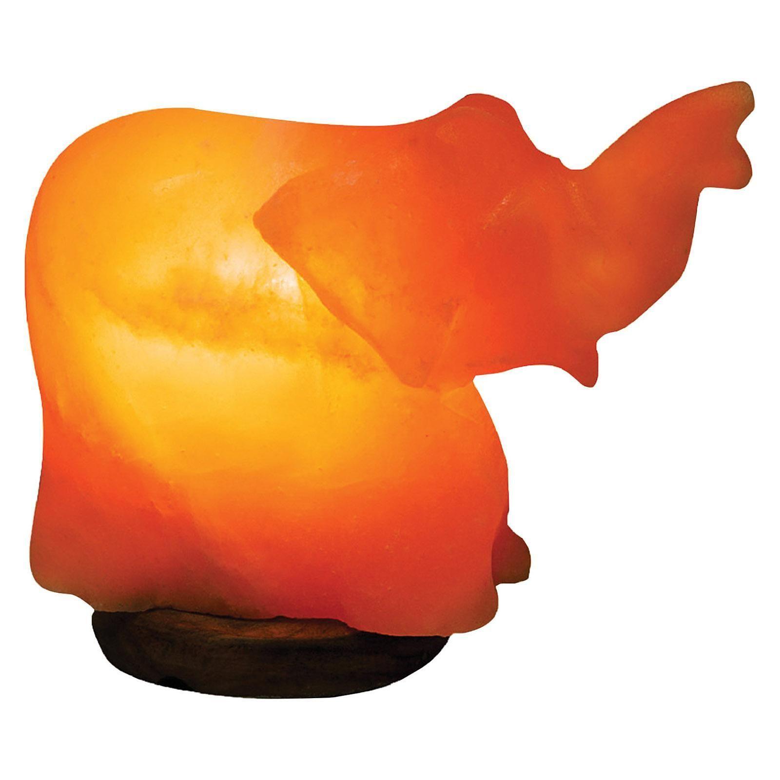 Evolution Salt Crystal Salt Lamp Elephant 1 Count Salt Lamp