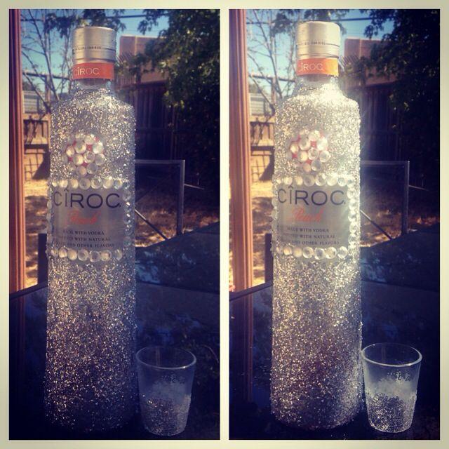 Decorated Alcohol Bottles For Birthday: Ciroc Glitter Bling Bottle Gift