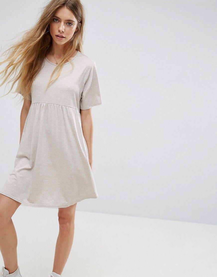 Buy it now asos ultimate smock dress in neppy brown dress by
