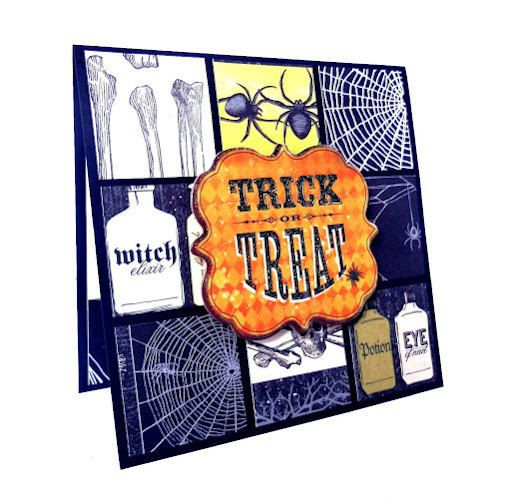 Halloween card trick or treat handmade halloween greeting card halloween card trick or treat handmade halloween greeting card m4hsunfo Choice Image
