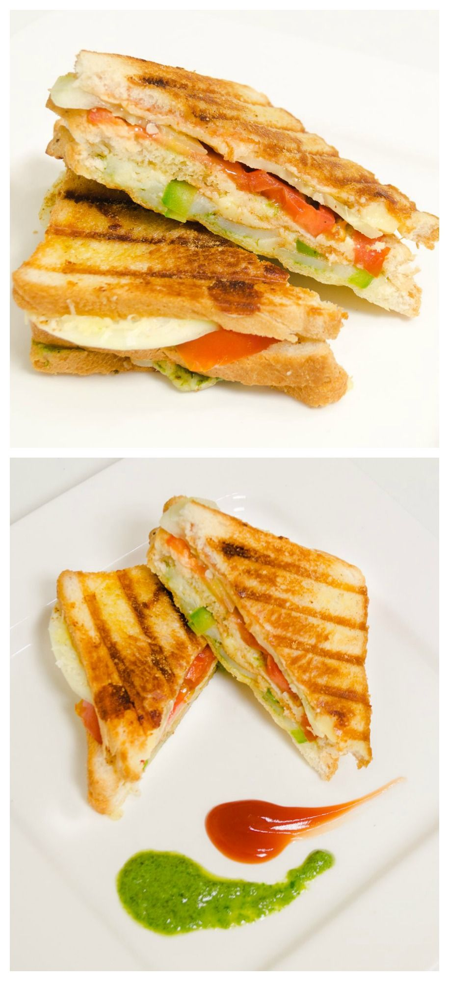 Veg #Grill #Sandwich - Double Decker - Quick And #Easy Indian #Street Style