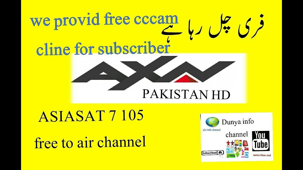 Asiasat 7 update axn Pakistan free to air free cccam cline | Can we