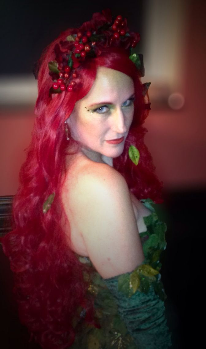 poison ivy with a nod to uma thurman shanda louis costume model