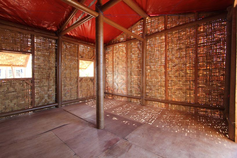 Shigeru Ban Paper Log House Philippines Designboom