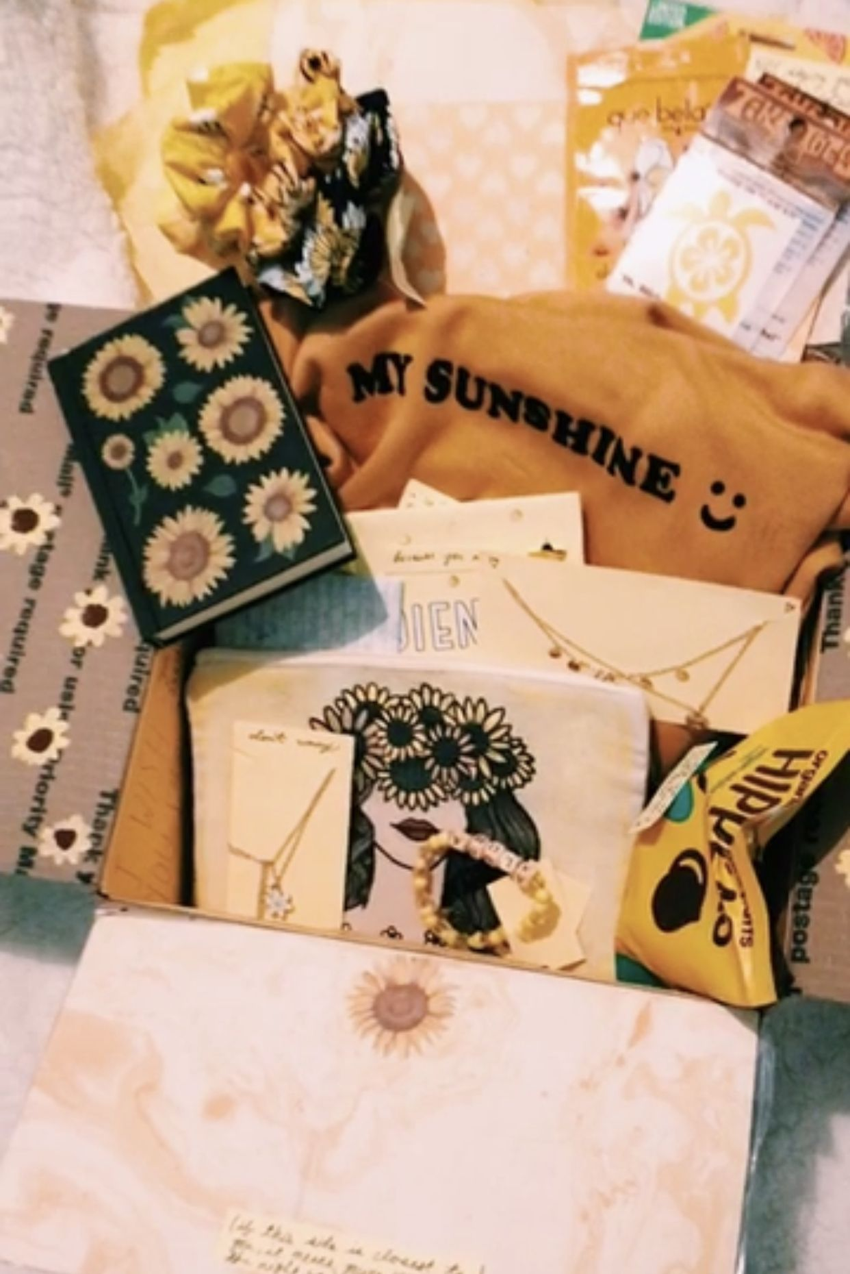 my sunshine 💫 yellow aesthetic bff Birthday presents