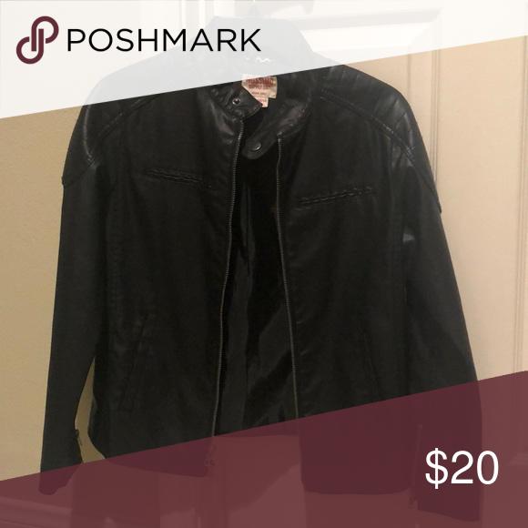 e529509c1 Boys Mossimo leather jacket Boys Size 12/14 Mossimo faux leather ...