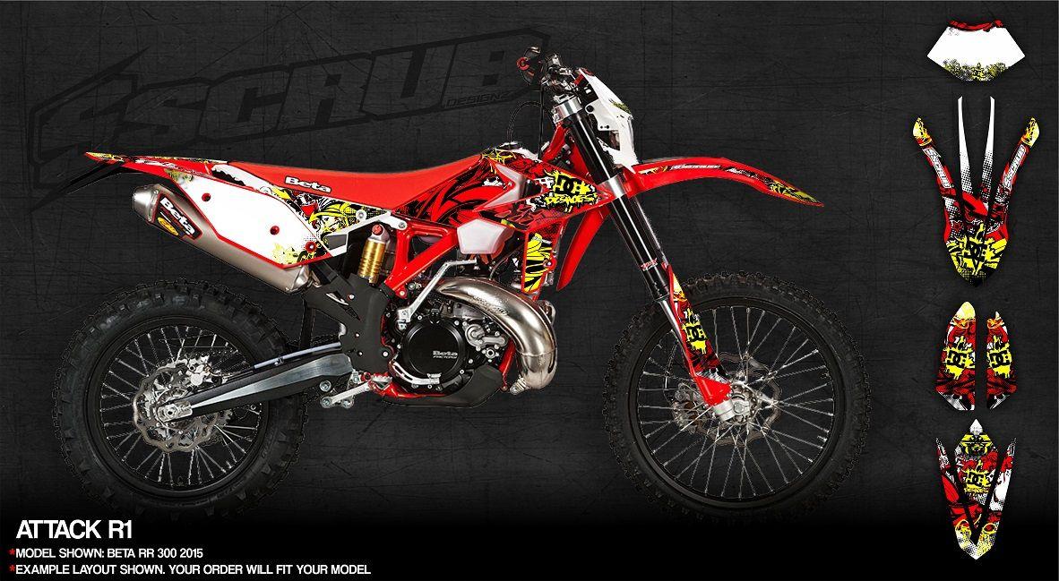 Kick Ass Dirt Bike Graphics By SCRUBdesignz Graphics Dirtbike - Decal graphics for dirt bikes