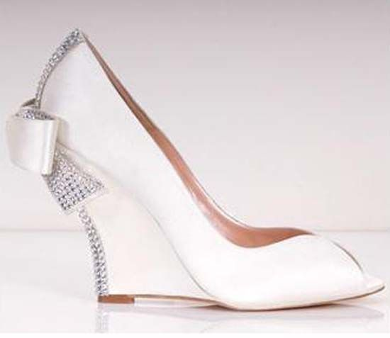 christian louboutin wedge wedding shoes