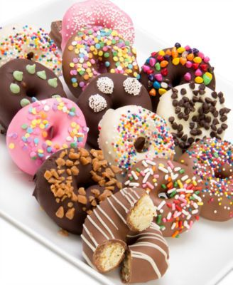12-Pc  Ultimate Toppings Chocolate Covered Mini Donuts