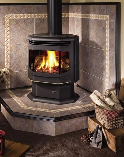 Pellet stove hearth designs maine stove shop and chimney Fireplace setting ideas
