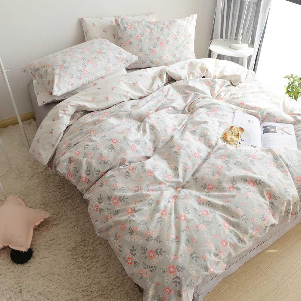 Highbuy Soft Cotton Twin Duvet Cover Sets For Kids Girls Flower Print Garden Reversible Floral Comforte Girls Duvet Covers Duvet Cover Sets Floral Bedding Sets