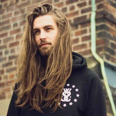 Delightful Long Blonde Hair Beard Men