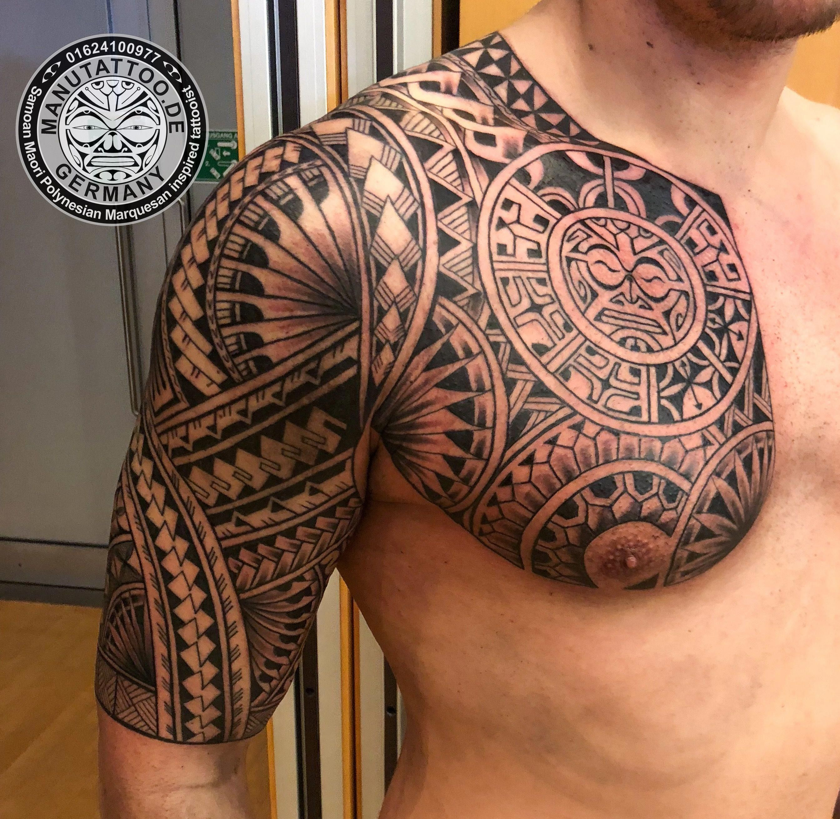 Body Art World Tattoos Maori Tattoo Art And Traditional: Freehand Polynesian Tattoo. #Marquesantattoos