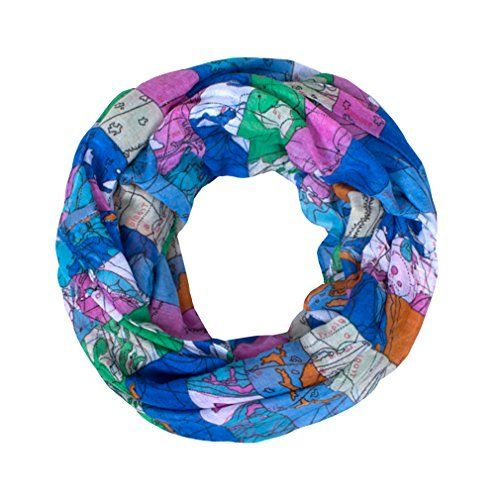 Gerinly world map print cute girls infinity loop scarf blue gerinly world map print cute girls infinity loop scarf blue visit the image link more details this link participates in amazon service llc associates gumiabroncs Image collections