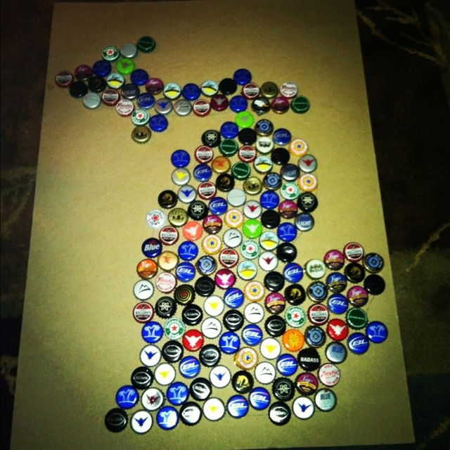 Bacfcdebfdjpg Pixels Projects To - Michigan bottle cap map