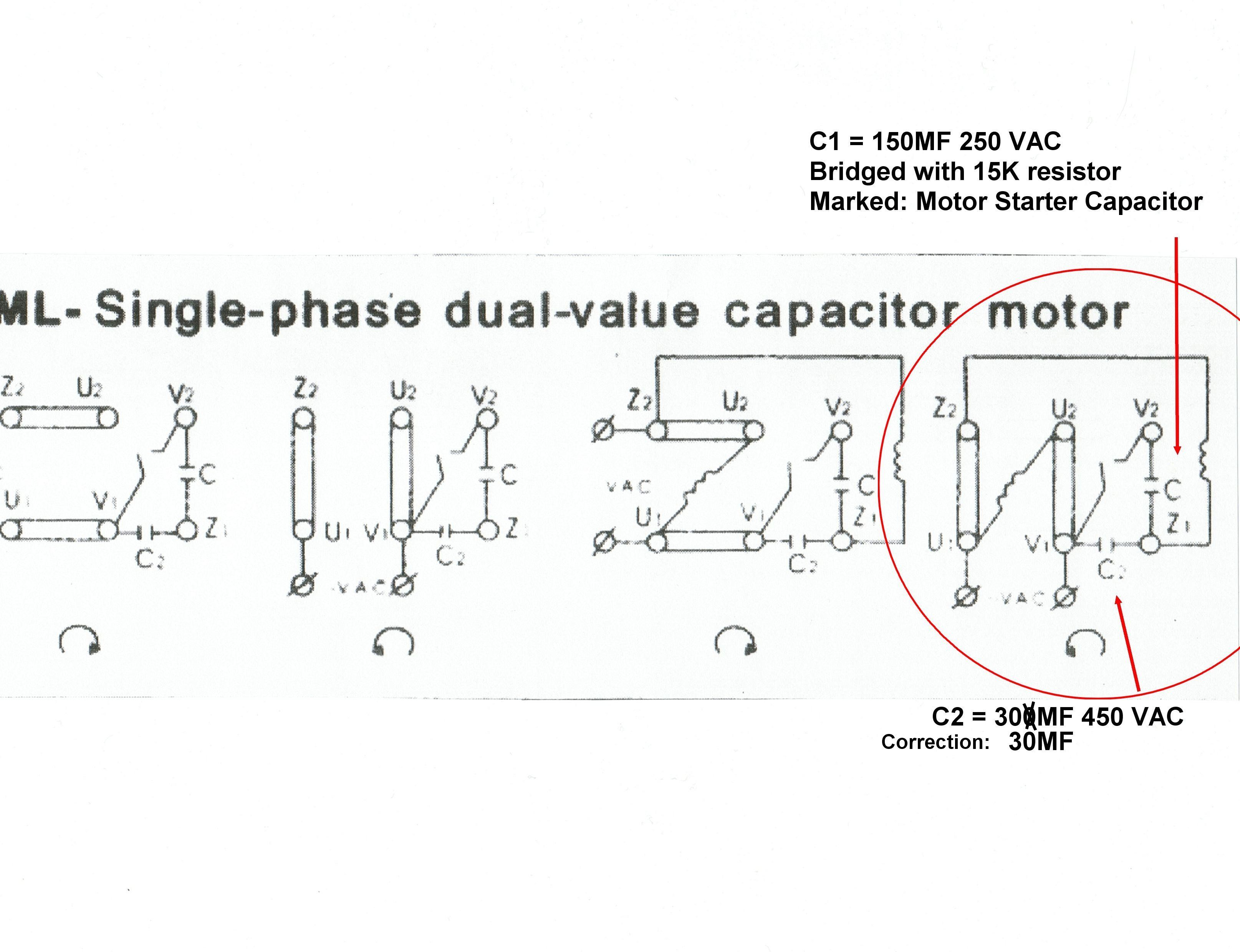 Wiring Diagram For 40 Volt Single Phase Motor ...