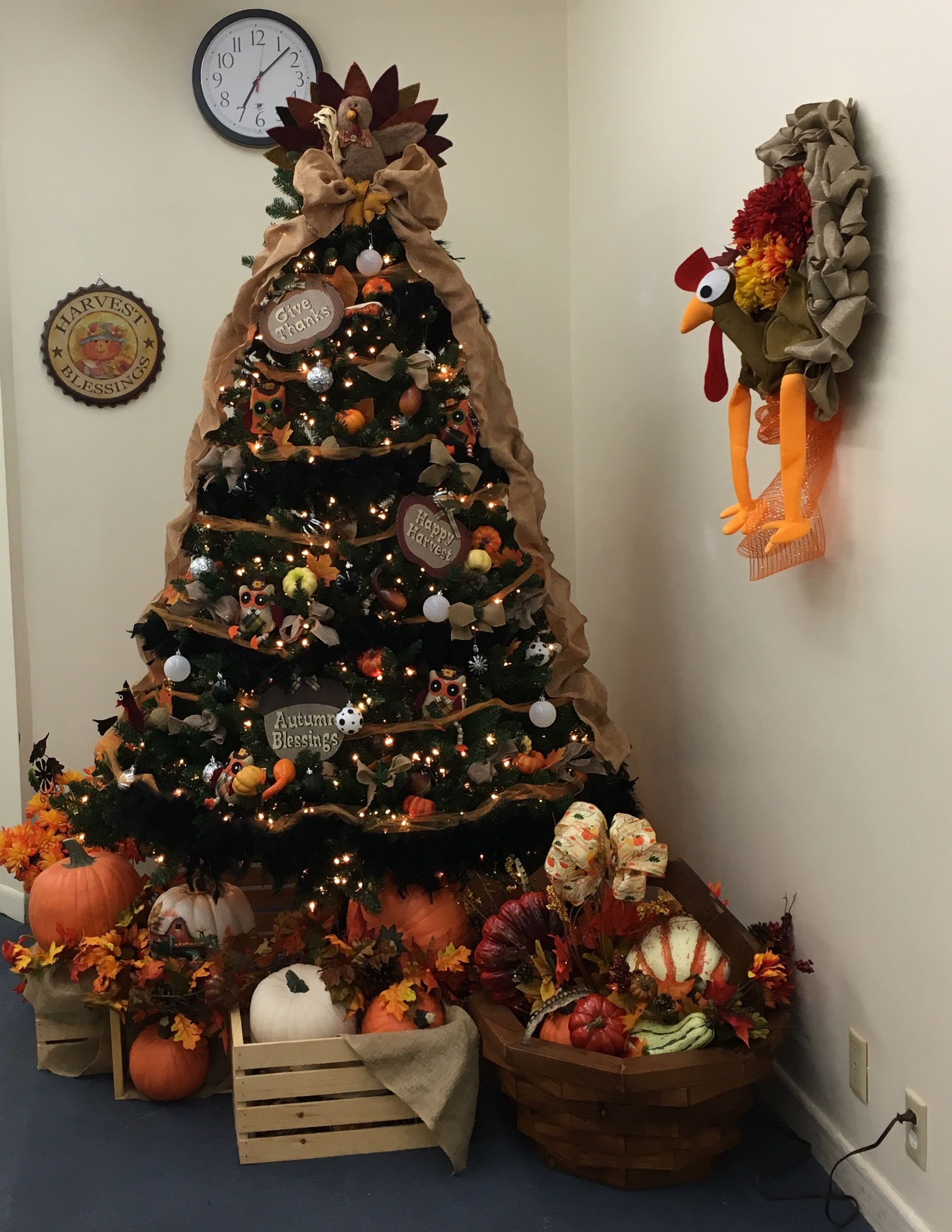 Thanksgiving Tree Thanksgiving Decorations Fall Thanksgiving Decor Thanksgiving Tree