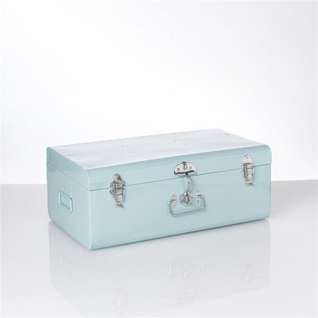 Malle Cantine Bleu Celadon La Redoute Malle Cantine Malle De Rangement Malle En Metal