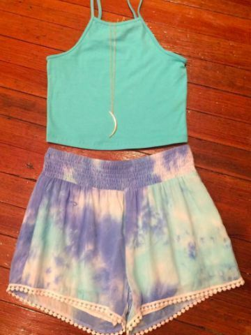 Tie Dye Shorts – Blue