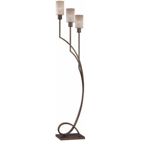 Saeran 3-Light Floor Lamp, Bronze