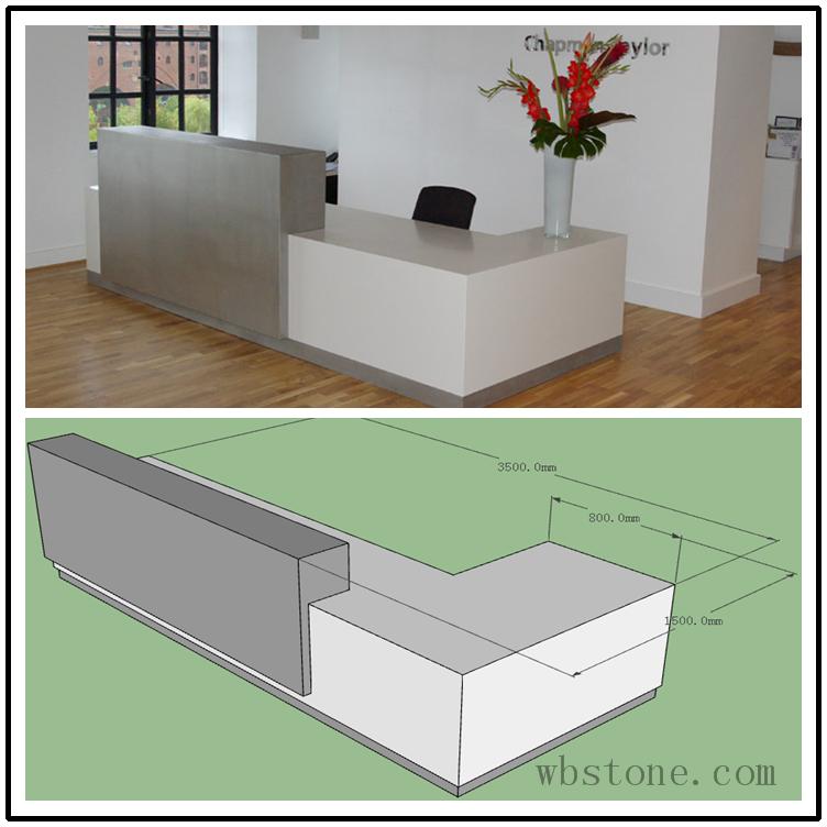 Front Desk L Shape White Corian Top Classic Design Re035 Moveis Para Escritorio Balcao Sala Balcao De Loja