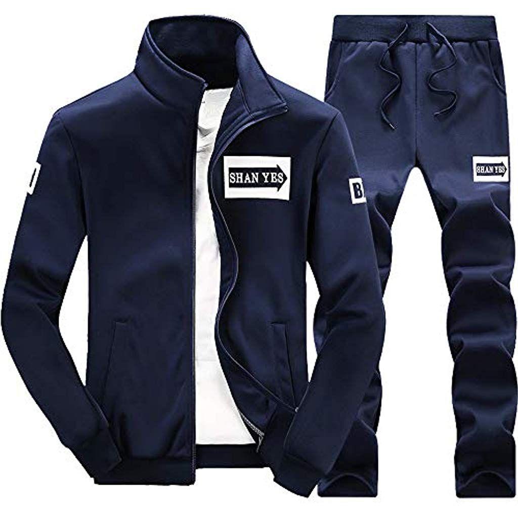 3d0f0fd0990 Survetement Homme Ensemble Sportwear Football Tenue de Sport 2 Pièces  Pantalon de Sport Sweatshirt à Capuche