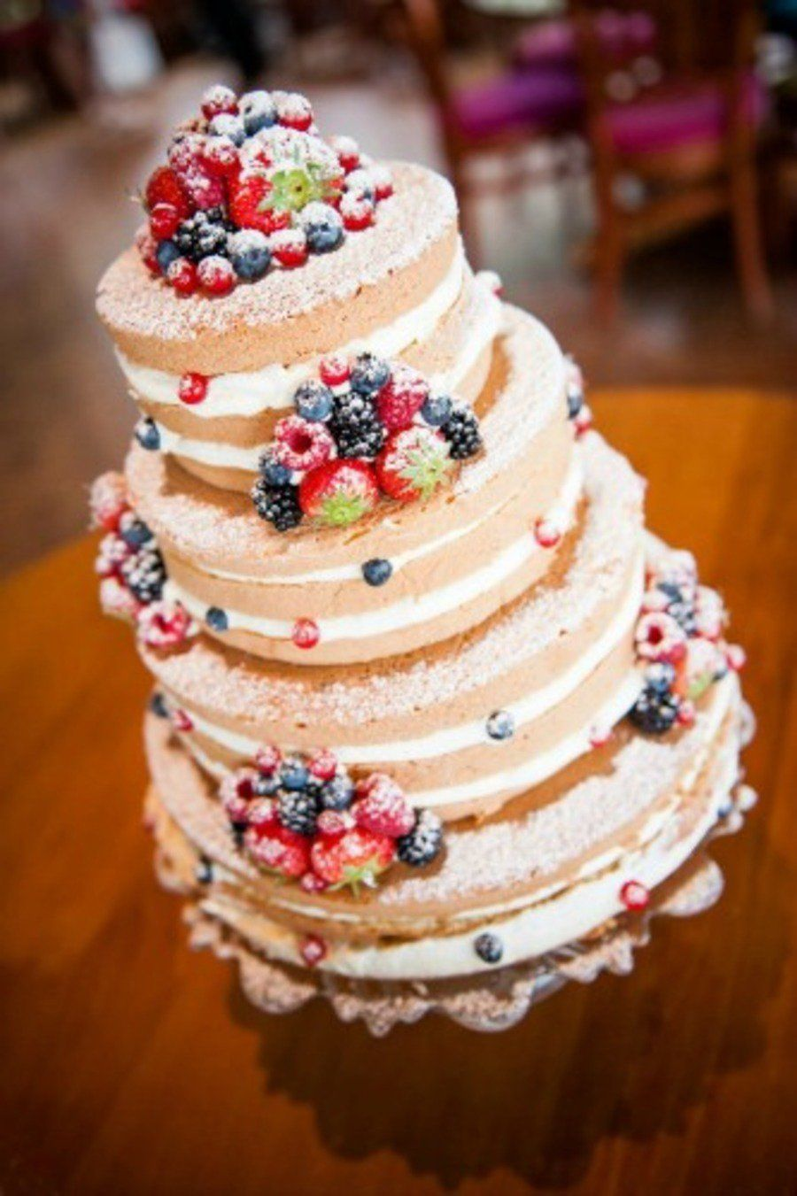 Wedding Cake With A Lot Of Fresh Fruit On Cake Central Hochzeit - Fresh Fruit Wedding Cake