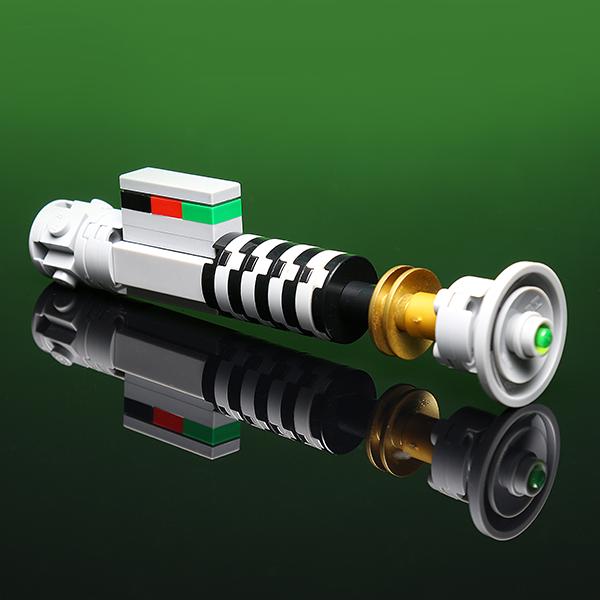Lego mini figure 10 Black Lightsaber Hilt Weapon Star Wars NEW