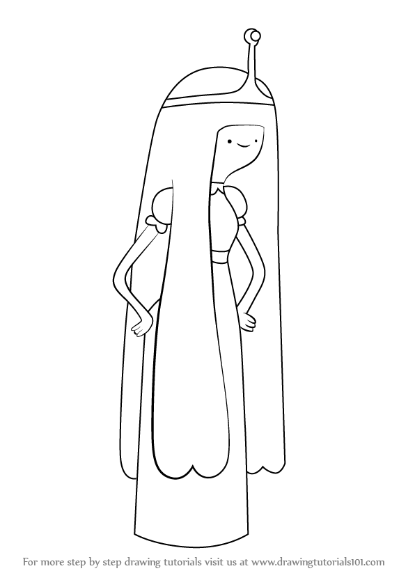 How To Draw Princess Bubblegum From Adventure Time Step 0 Png 596 843 Pixels Princess Drawings Princess Bubblegum Adventure Time
