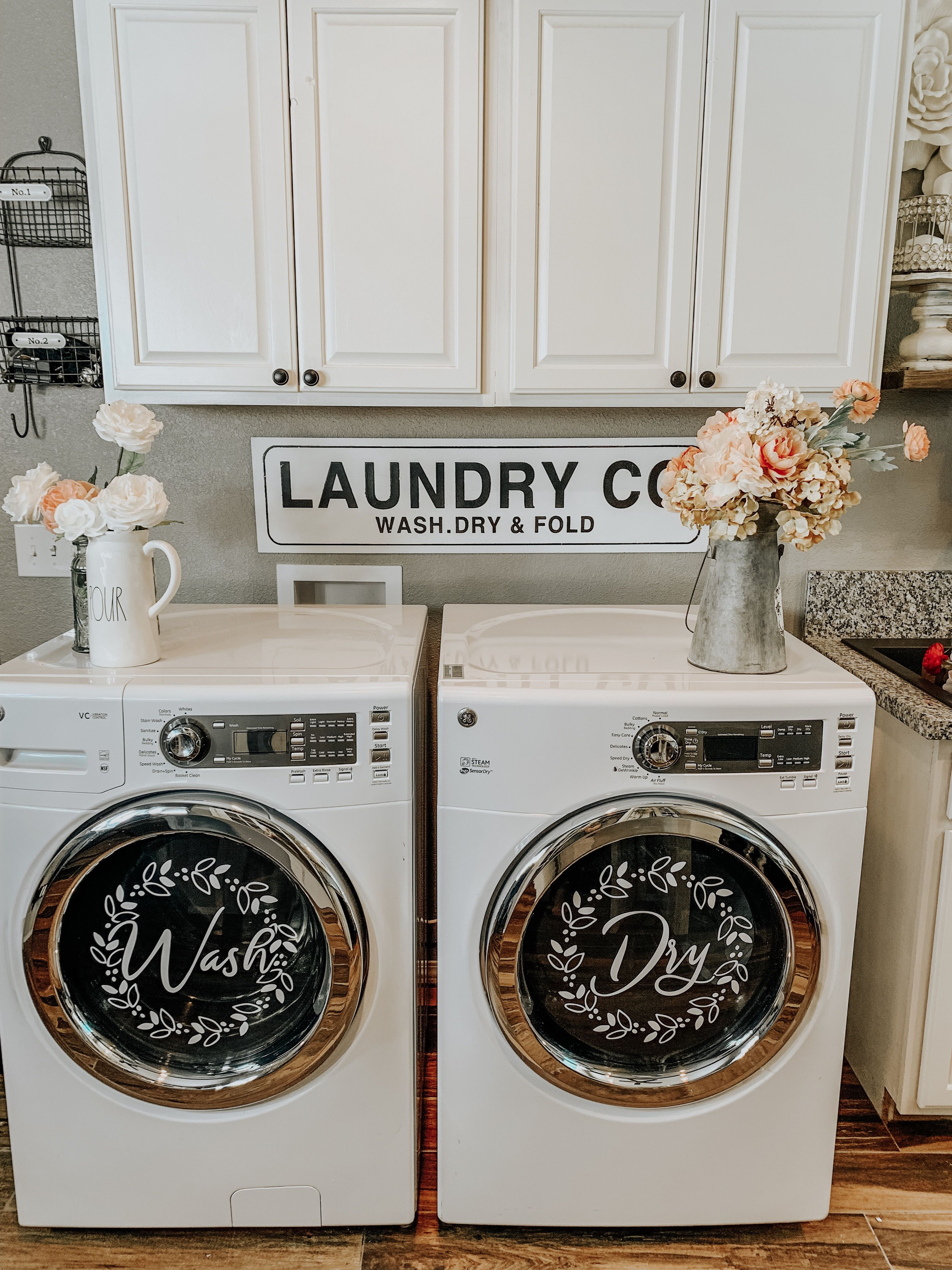 Washer And Dryer Decals Fancy Fix Decor Laundry Room Makeover