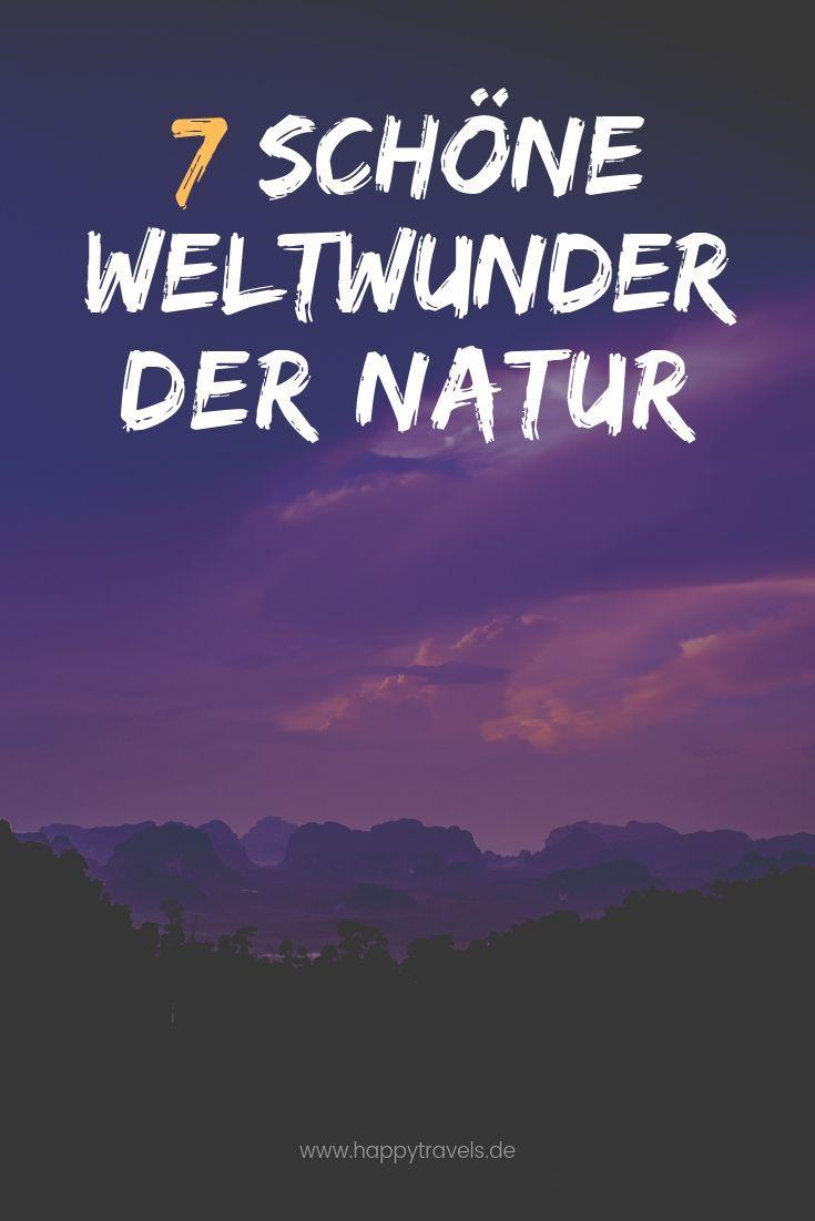 7 Natur Weltwunder